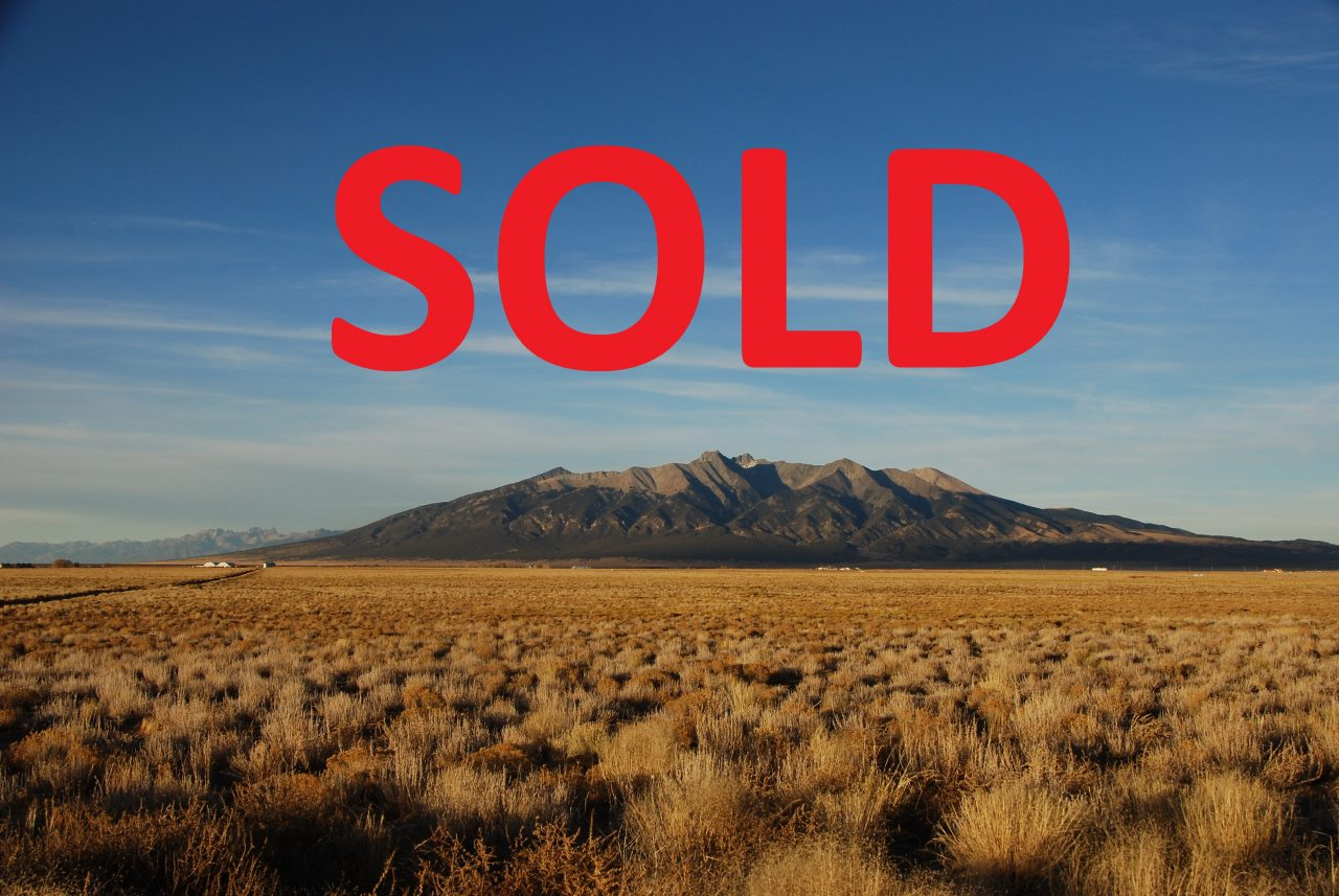 SOLD! –> 5 acres at the Foot of Mt. Blanca